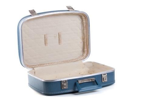 旅行「オープンブルーのスーツケース」:スマホ壁紙(12)