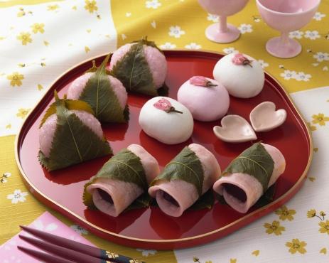 ひな祭り「Sweet dumplings」:スマホ壁紙(9)
