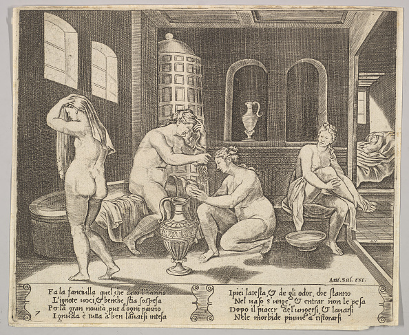 Bathhouse「Plate 7: Psyche Attended In Her Bath By Nymphs」:写真・画像(9)[壁紙.com]