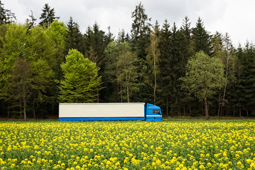 Crop - Plant「Semi truck in the country side」:スマホ壁紙(11)