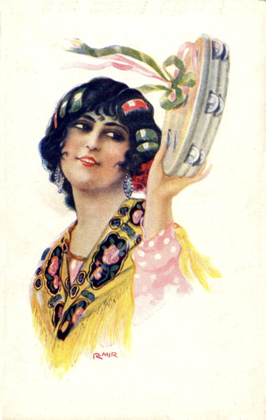楽器「GYPSY woman playing TAMBOURINE」:写真・画像(11)[壁紙.com]