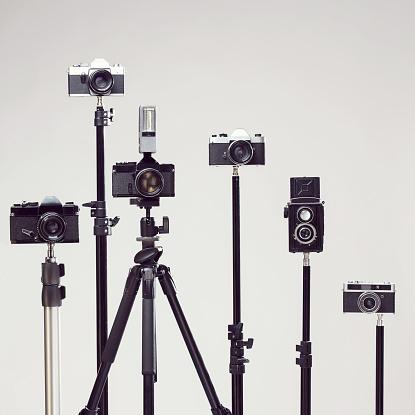 Studio Shot「Vintage cameras」:スマホ壁紙(1)