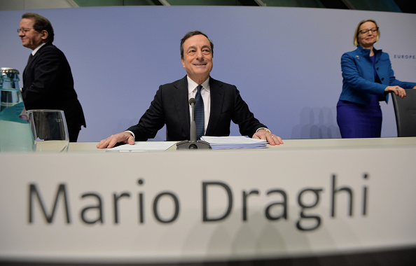Seat of the European Central Bank「Mario Draghi Holds First Press Conference In New ECB Headquarters」:写真・画像(0)[壁紙.com]