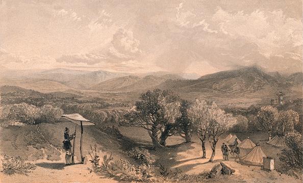 Valley「The Valley of Baidar, from Rear Petroskis Villa, Looking East, 1856」:写真・画像(8)[壁紙.com]