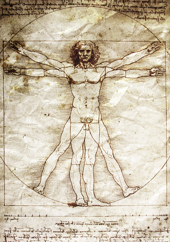 Indigenous Culture「The Vitruvian Man by Leonardo da Vinci」:スマホ壁紙(6)