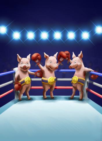Boxing Ring「Three Little Pig Winners」:スマホ壁紙(18)