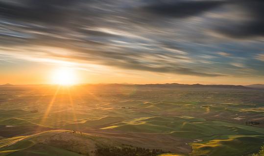 Landscape「クロップドフィールドでは、毎朝、パルース郡ヒル」:スマホ壁紙(16)