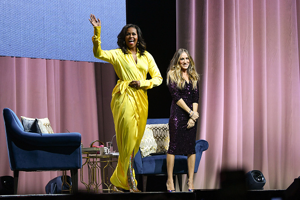"Yellow Dress「Michelle Obama Discusses Her New Book ""Becoming"" With Sarah Jessica Parker」:写真・画像(13)[壁紙.com]"