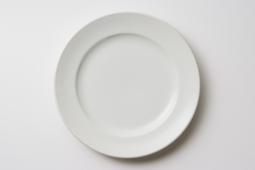 White Color「Isolated shot of white plate on white background」:スマホ壁紙(6)