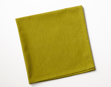 Meal「Isolated shot of folded green napkin on white background」:スマホ壁紙(1)