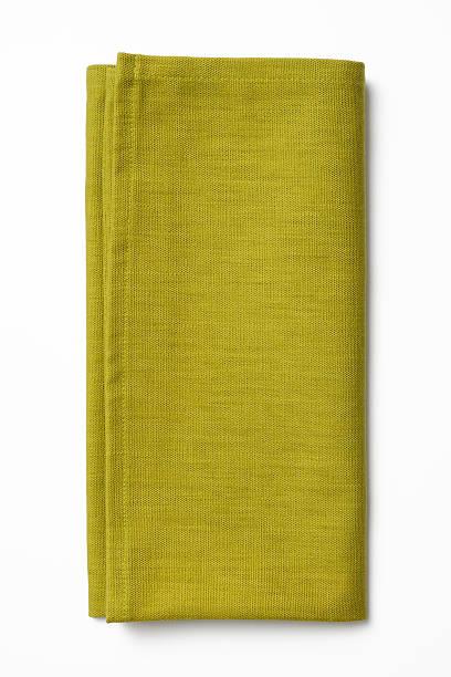 Isolated shot of folded green napkin on white background:スマホ壁紙(壁紙.com)