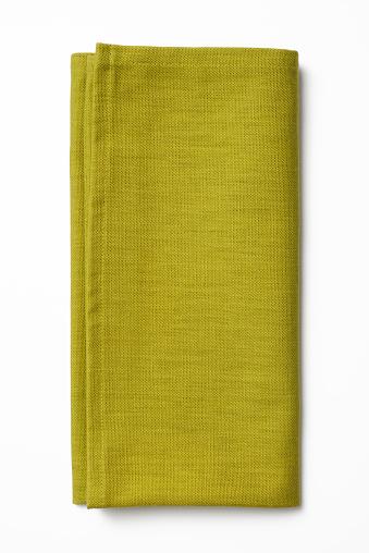 Napkin「Isolated shot of folded green napkin on white background」:スマホ壁紙(2)