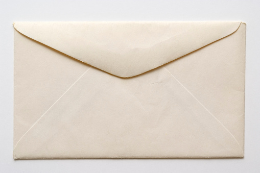 Envelope「Isolated shot of old envelope on white background」:スマホ壁紙(3)