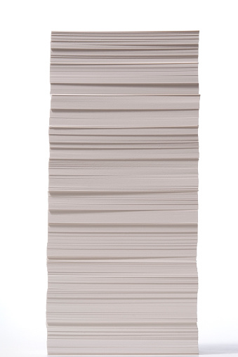 Side View「Isolated shot of stacked paper on white background」:スマホ壁紙(16)