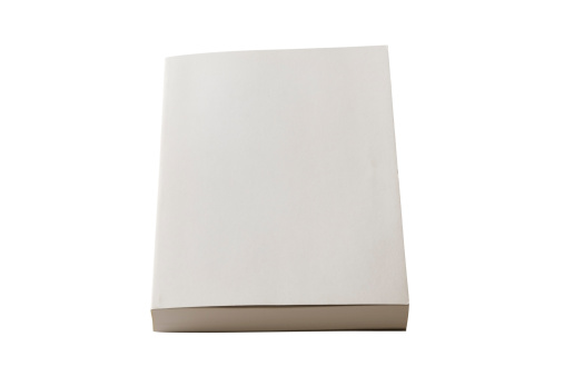 Book Cover「Isolated shot of closed blank book on white background」:スマホ壁紙(15)