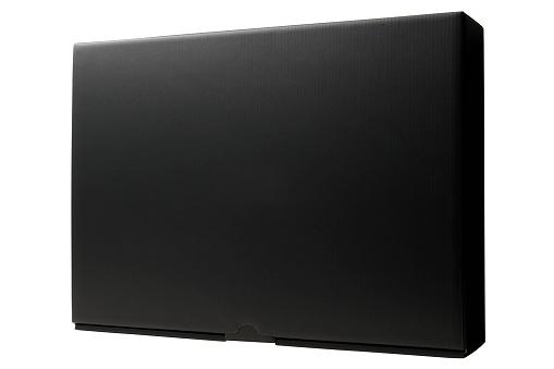 プレゼント「閉鎖絶縁ショットのブランク、黒の背景に白のボックス」:スマホ壁紙(19)