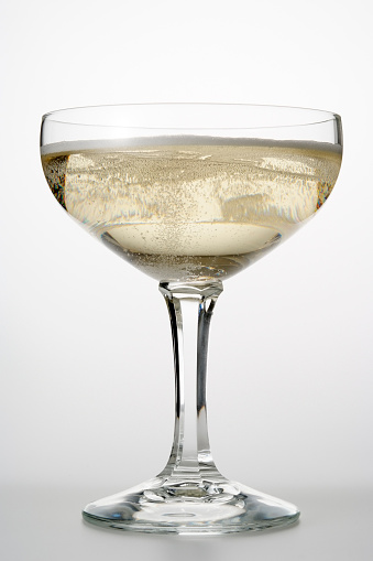 White Wine「Isolated shot of Champagne glass on white background」:スマホ壁紙(15)