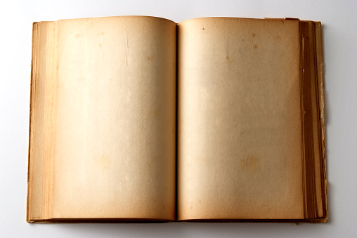 Sepia Toned「Isolated shot of aged blank book on white background」:スマホ壁紙(18)