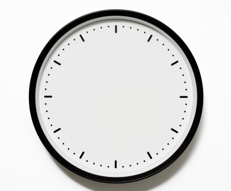 Black Color「Isolated shot of blank clock face on white background」:スマホ壁紙(6)