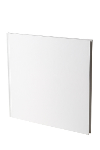 Hardcover Book「Isolated shot of closed square blank book on white background」:スマホ壁紙(15)