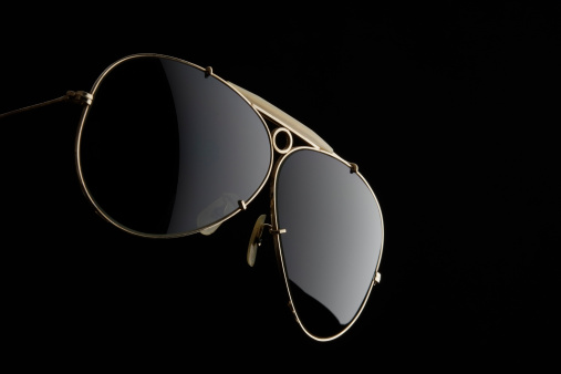 Eyesight「Isolated shot of Sunglasses on black background」:スマホ壁紙(1)