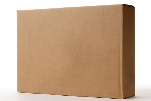 Package「Isolated shot of blank cardboard box on white background」:スマホ壁紙(13)