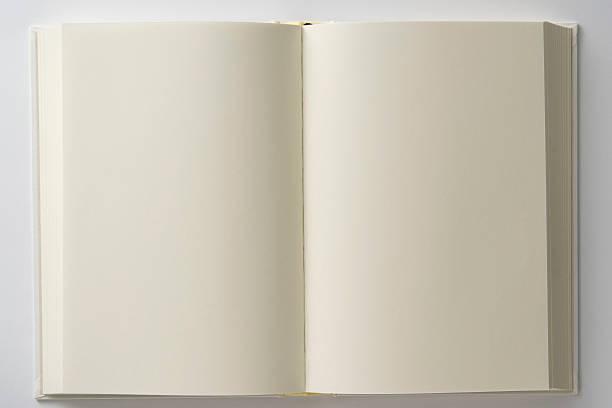 Isolated shot of opened blank white book on white backgrounds:スマホ壁紙(壁紙.com)