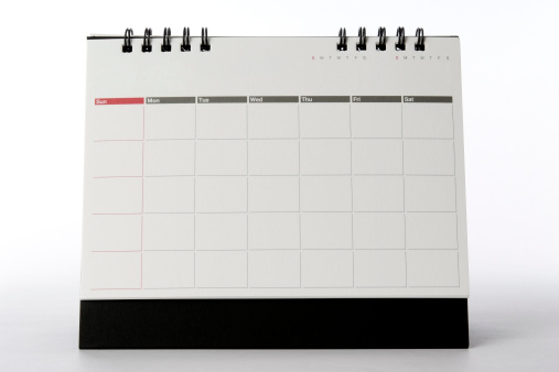 Diary「Isolated shot of blank desktop calendar on white background」:スマホ壁紙(18)