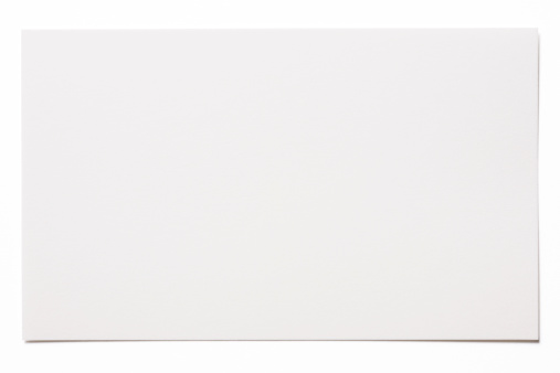 High Angle View「Isolated shot of blank white card on white background」:スマホ壁紙(1)