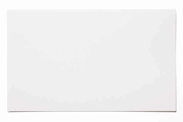 Isolated shot of blank white card on white background:スマホ壁紙(壁紙.com)