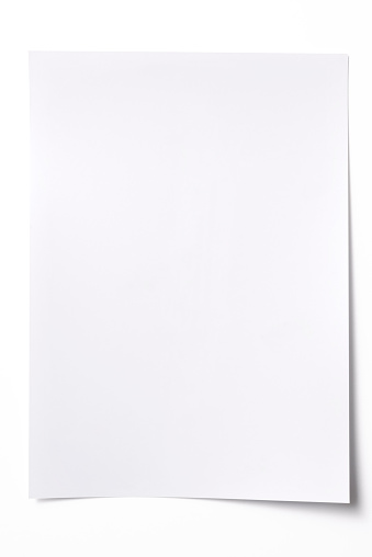 Note - Message「Isolated shot of blank white paper sheet on white background」:スマホ壁紙(9)