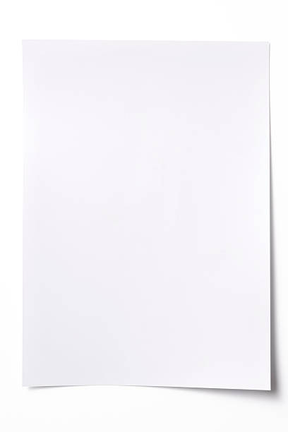 Isolated shot of blank white paper sheet on white background:スマホ壁紙(壁紙.com)