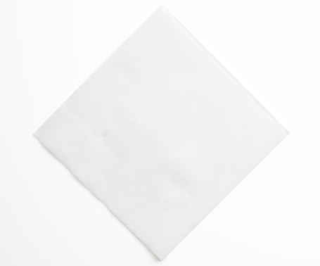 Square Shape「Isolated shot of blank white paper napkin on white background」:スマホ壁紙(7)