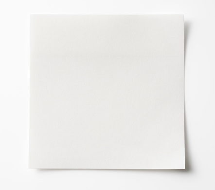 Shadow「Isolated shot of blank white sticky note on white background.」:スマホ壁紙(15)