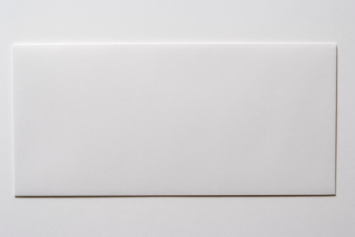 Envelope「Isolated shot of blank white envelope on white background」:スマホ壁紙(1)
