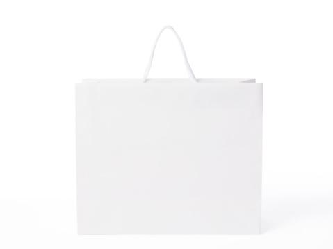 Single Object「Isolated shot of blank shopping bag on white background」:スマホ壁紙(18)