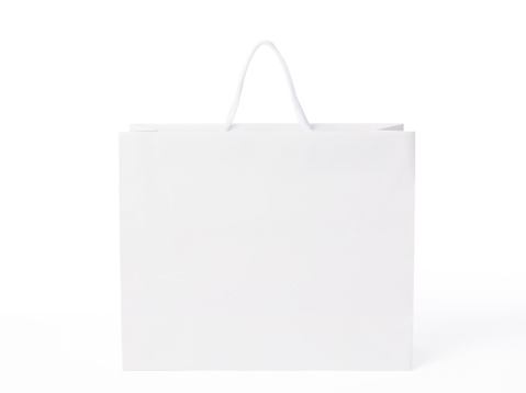 Front View「Isolated shot of blank shopping bag on white background」:スマホ壁紙(6)