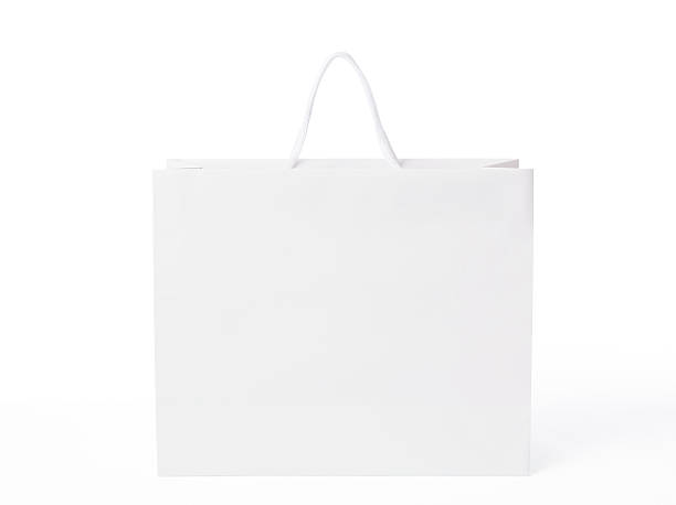 Isolated shot of blank shopping bag on white background:スマホ壁紙(壁紙.com)