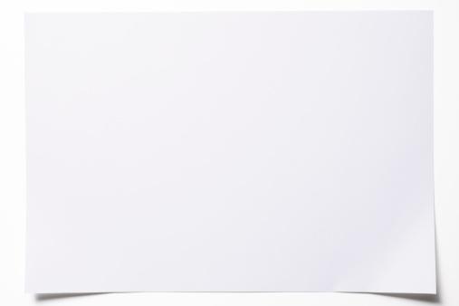 Horizontal「Isolated shot of blank paper on white background」:スマホ壁紙(19)