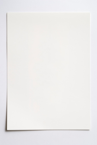 Shadow「Isolated shot of blank paper on white background with shadow」:スマホ壁紙(8)