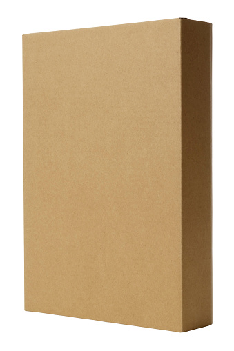 Container「Isolated shot of standing blank cardboard box on white background」:スマホ壁紙(1)