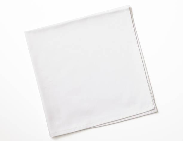 Isolated shot of folded white napkin on white background:スマホ壁紙(壁紙.com)
