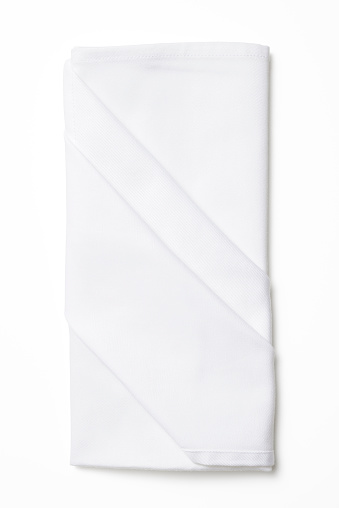 Napkin「Isolated shot of folded white napkin on white background」:スマホ壁紙(13)