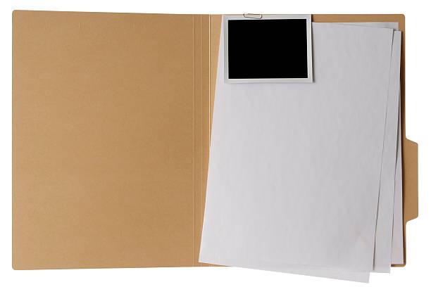 Isolated shot of opened file folder on white background:スマホ壁紙(壁紙.com)