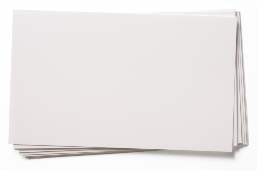 Paper「Isolated shot of stacked blank white cards on white background」:スマホ壁紙(14)