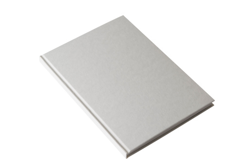 Book Cover「Isolated shot of closed white blank book on white background」:スマホ壁紙(19)