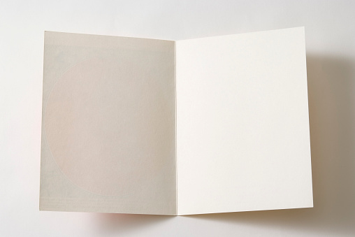 Letter - Document「Isolated shot of opened antique blank paper on white background」:スマホ壁紙(13)