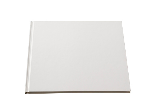 Book Cover「Isolated shot of square blank book on white background」:スマホ壁紙(14)