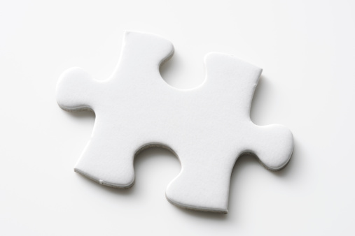 Connect the Dots「Isolated shot of blank jigsaw puzzles piece on white background」:スマホ壁紙(17)