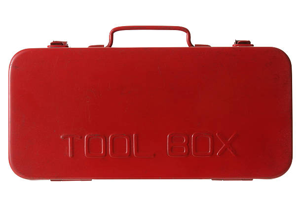 Isolated shot of red toolbox on white background:スマホ壁紙(壁紙.com)